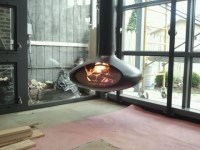 Fire Orb Hanging Steel Fireplace
