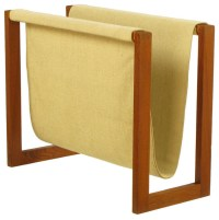 Teak & Canvas Magazine Rack - Contemporary - Magazine ...