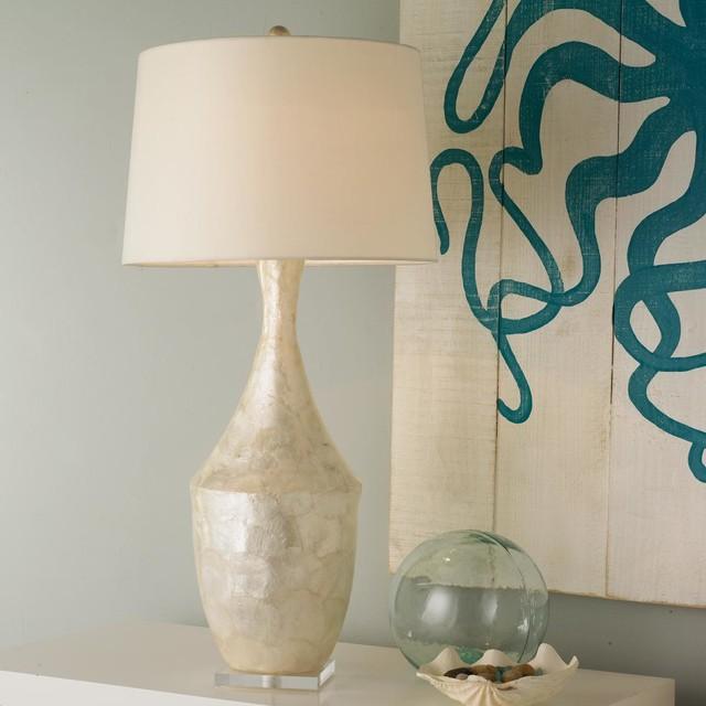 Capiz Shell Vase Table Lamp