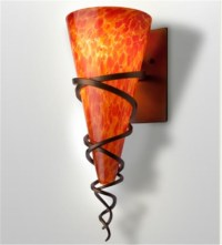 Tuscany Blown Glass Wall Sconce - Contemporary - Wall ...