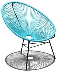 Acapulco Patio Chair, Glacier Blue - Modern - Outdoor ...