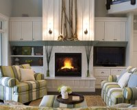 Bungalow Fireplace Wall on Pinterest | Fireplaces, Tiled ...