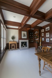 Coffered Ceilings - Mahogany - Office Ceiling- Stained ...