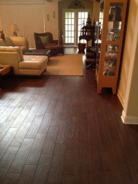 Porcelain plank wood look tile installations Tampa ...