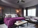 Purple And Gray Contemporary Master Bedroom Contemporary Bedroom San Francisco