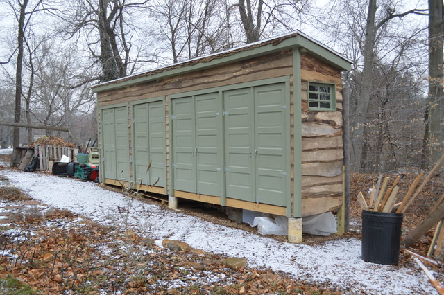 Repurposed Garden Shed Eclectic Garage And Shed