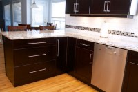 Cabinet Refacing done in Cherry Veneer - Contemporary ...