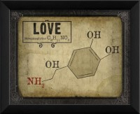Love Molecule Framed Artwork - Contemporary - Prints And ...