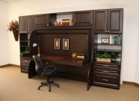 Home office hidden 'Desk Bed' with a very traditional look