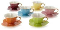 Classic Coffee & Tea Inside Out Heart Cups & Saucers ...