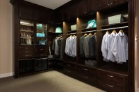 Campbell Showroom Closet with LED Lighting - Traditional ...