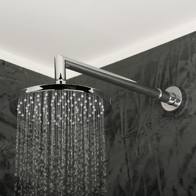 Thin Kitchen Wall Cabinet Lacava Minimal Wall Mount Rain Showerhead - Contemporary