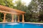 Pool With Waterfall And Gazebo