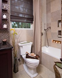 Small Earthy Bath Remodel - Eclectic - Bathroom - other ...