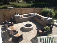 Fire Pit Sitting Area Newbury MA - Contemporary - Patio ...