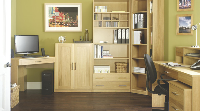 Practical Home Furniture Designs Contemporary Oak Modular Office Furniture - Contemporary - Home Office - other metro - by B&Q