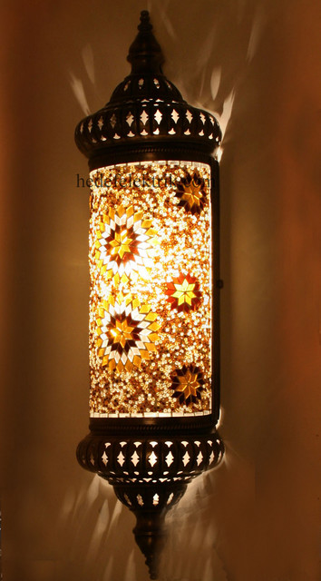Pendant Lighting For Traditional Kitchen Half Ottoman Style Mosaic Lighting Wall Sconce