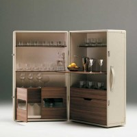 Poltrona Frau Isidoro Bar Cabinet - Modern - Wine And Bar ...