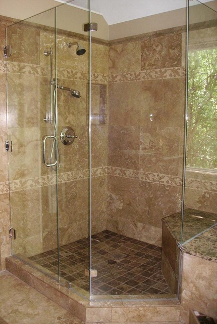 Houzz Bathroom Ideas Master Bath Remodel - Travertine - Traditional - Bathroom