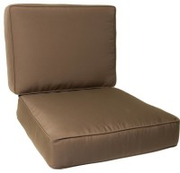 Medium Replacement Club Chair Cushion Set With Piping ...