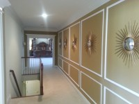Architectural shadow box wainscoting - Traditional - Hall ...