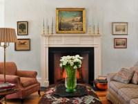 Greek Revival - Farmhouse - Living Room - burlington - by ...