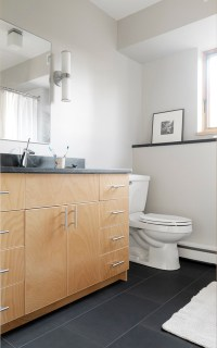 Raised Ranch Retrofit - Contemporary - Bathroom ...