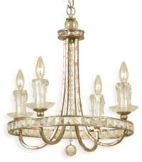 Aristocrat Soft Gold Crystal Hollywood Regency 4 Light ...