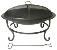 Hampton Bay Outdoor Fire Pits Lawrence 29 in. Round ...
