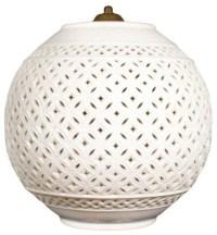 Regency White Ceramic Pendant Lamp - Contemporary ...