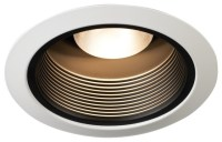 "Juno 5"" Black Baffle White Trim Recessed Light ..."