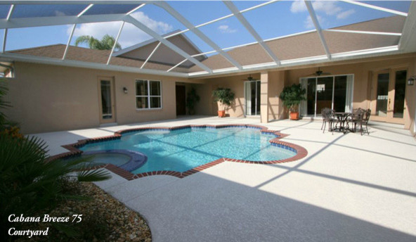 cabana courtyard designs traditional pool tampa