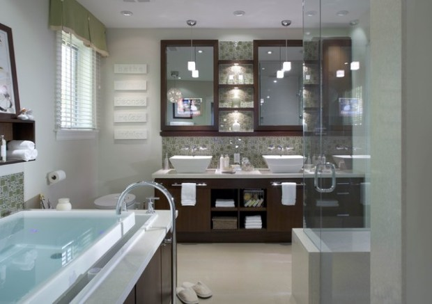 high tech bath design candice olson bathrooms