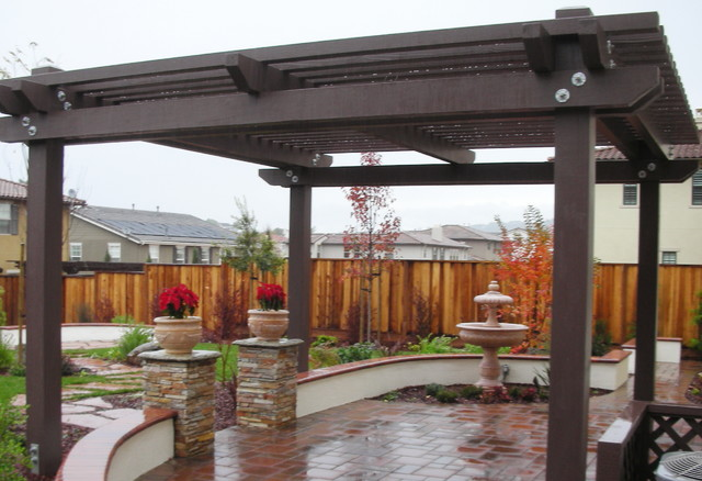 How To Build A Patio Shade Structure Backyard Pergola Shade Structures - Traditional - Patio - other metro - by Jpm Landscape