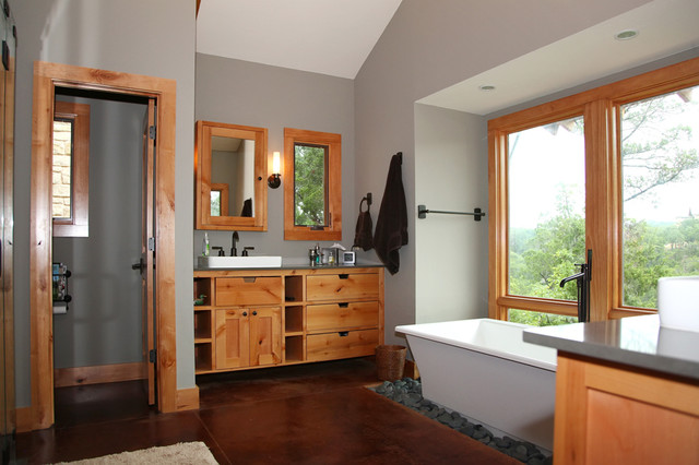 Master Bath Walk In Shower Modern Rustic Master Bath