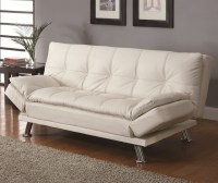 Contemporary White Sleeper Sofa Bed - Modern - Futons ...