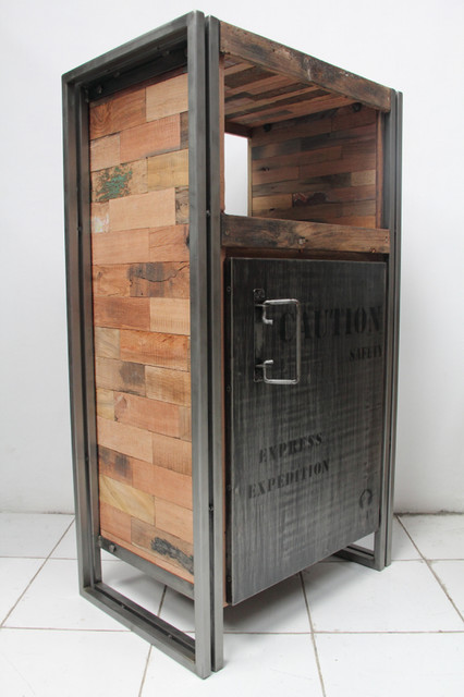 1 Door Storage Cabinet Made From Salvaged Fishing Boat