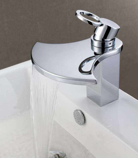 Sumerain S1262cw Waterfall Bathroom Sink Faucet Modern