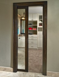 Old Shepard Framed Mirror Pocket Door
