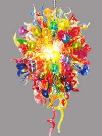Modern Handmade Colorful Glass Chandelier - Contemporary ...