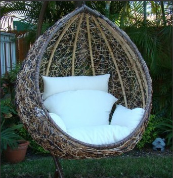 Egg swing chair contemporary hammocks and swing chairs