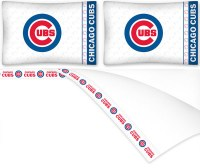MLB Chicago Cubs Baseball Queen Bed Sheet Set