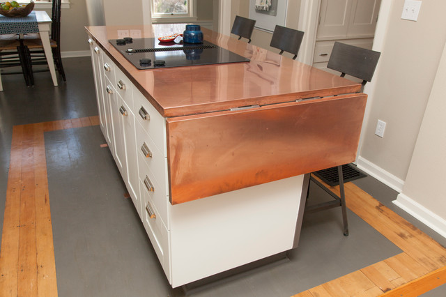 Kitchen Island Drop Leaf Jennifer And Chris - Craftsman - Kitchen - Portland - By