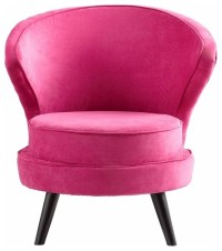 Hot Pink Velvet Accent Chair - Transitional - Armchairs ...