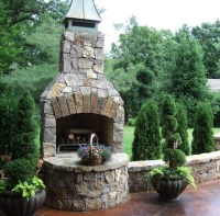 "36"" Standard Fireplace kit in Natural Stone - Traditional ..."