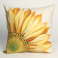 Sunflower Yellow Outdoor Pillow - Outdoor Cushions And ...