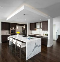 Kitchen Waterfall Island - Modern - Kitchen - vancouver ...