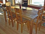 Rustic Farmhouse Style Dining Room Tables And Chairs