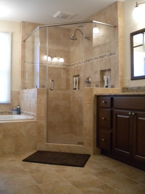 Houzz Showers Vienna Master Bath - Shower - Traditional - Bathroom