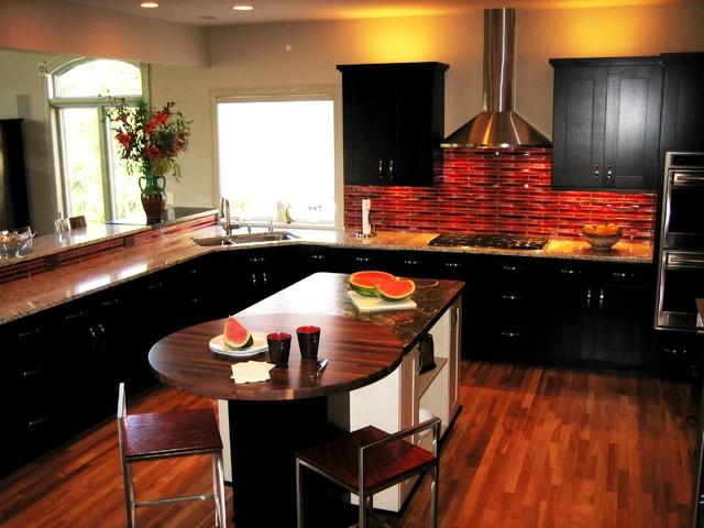 modern kitchen red glass backsplash eclectic kitchen awesome kitchen backsplash ideas decoholic